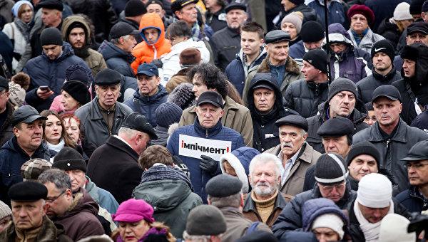 Марш за импичмент Петра Порошенко, организованный Михаилом Саакашвили, 17 декабря 2017