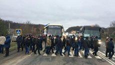 Аграрии перекрыли трассу в Хмельницкой области