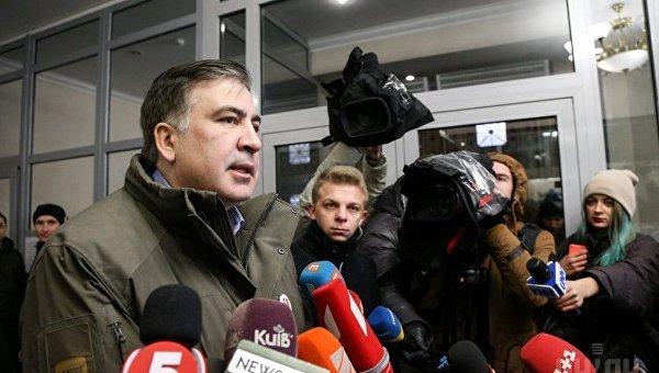 Лидер партии Рух новых сил, экс-председатель Одесской ОГА Михаил Саакашвили. Архивное фото