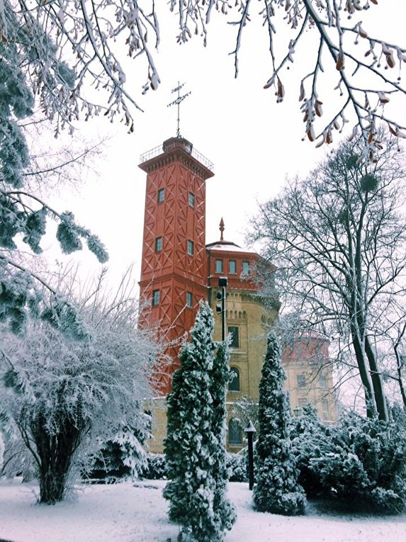 Снегопад в Киеве