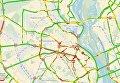 Киев парализовали 9-бальные пробки