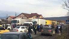 Блокирование объездной трассы в Ужгороде