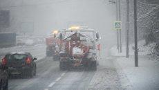 Снегопад в Киеве, 18 декабря 2017