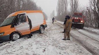 Транспортный коллапс в Киеве и области