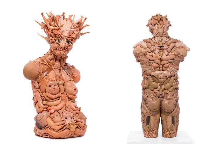 Фрея Джобинс. Скульптуры из кукольных частей тела
