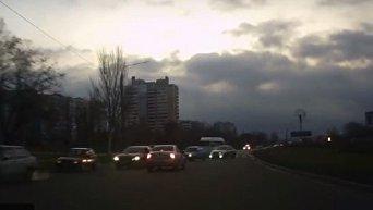 Полицейская погоня за нарушителем в Запорожье
