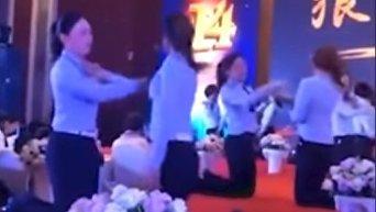 Оригинальный способ сплочения коллектива, или Корпоратив по-китайски. Видео