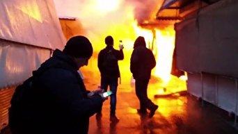 Пожар на центральном рынке Запорожья