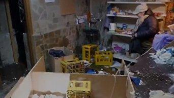 Погром в разливайке в Соломенском районе Киева. Видео