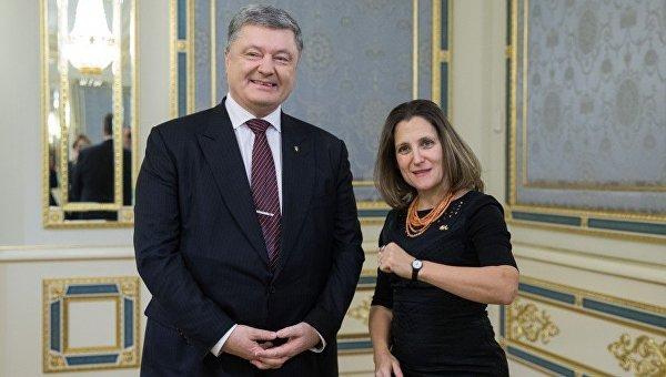 Петр Порошенко и Христя Фриланд