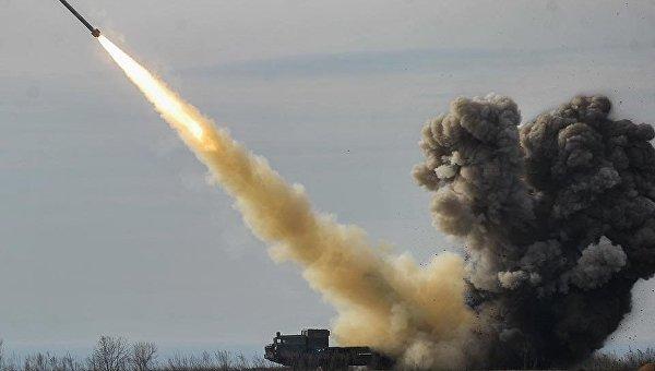 Испытание украинской ракеты Ольха
