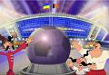 Как Шахтер поднял украинский флаг над Донбасс Ареной. Видео