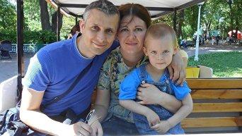 Вячеслав Веремий с семьей. Архивное фото