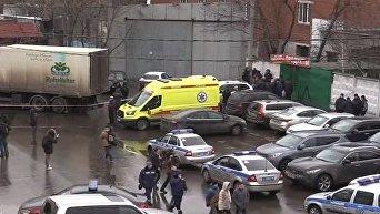 Стрельба на фабрике в Москве. Спецоперация силовиков. Видео