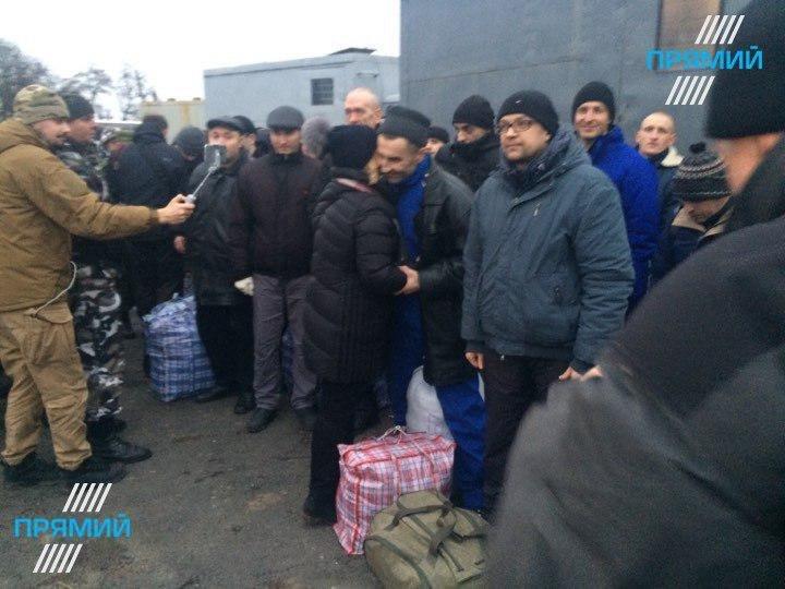 Обмен военнопленными около Горловки