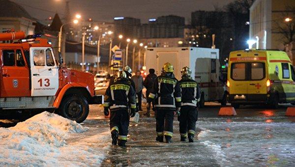 Взрыв в магазине Перекресток в Санкт-Петербурге