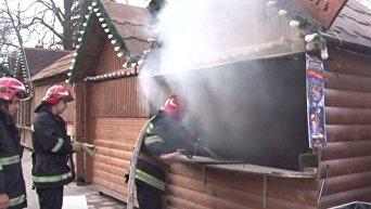 Пожар на рождественской ярмарке во Львове