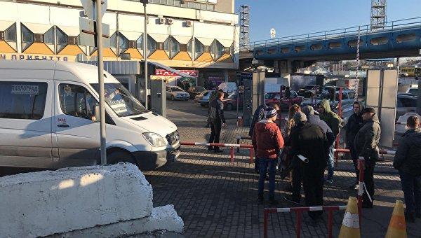 ВДнепре ветераны АТО заблокировали автовокзал