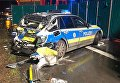 В Германии пьяный украинец на фуре протаранил патрульное авто