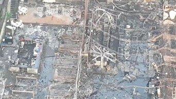 Последствия смертельного пожара в индийском Мумбаи