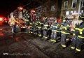 Пожар в жилом доме в Бронксе (Нью-Йорк)