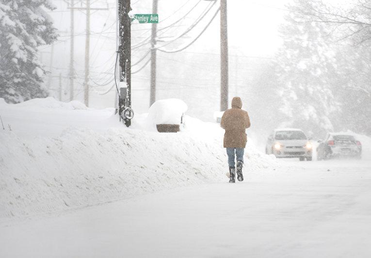 Рекордные снегопады в Пенсильвании