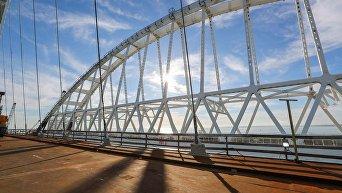 Минтранс РФ опубликовал фото готового участка Крымского моста