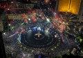 Первые минуты Нового 2018 года в Джакарте, Индонезия