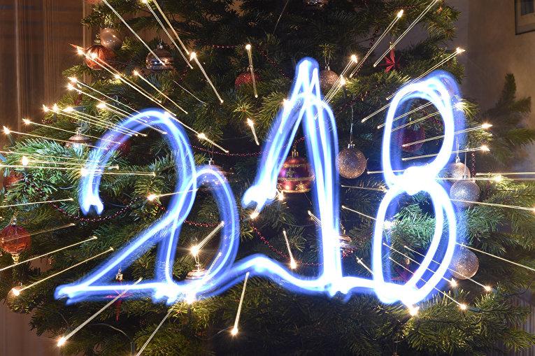 Первые минуты Нового 2018 года в Будапеште, Венгрия
