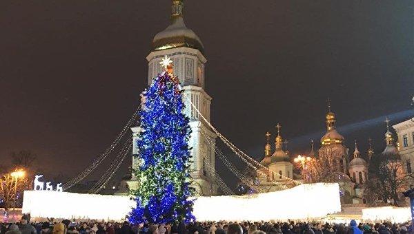 Новый 2018 год на Софийской площади в Киеве