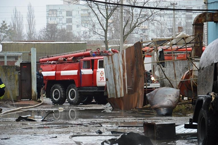 Взрыв на предприятии в Новомосковске