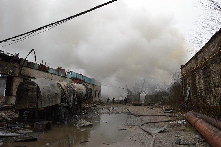 взрыв, газовые баллоны, Новомосковск