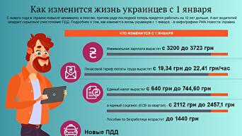 Как изменится жизнь украинцев с 1 января 2018 года