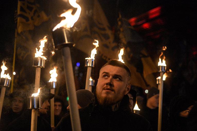 Марш в честь Бандеры в Киеве