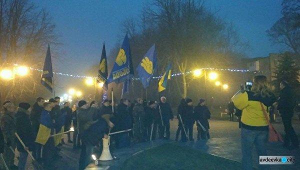 Факельное шествие в Донбассе