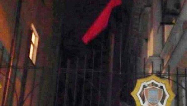 Над полицией в Николаеве вывесили красно-черный флаг