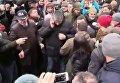 Момент столкновений на митинге под управлением Национальной полиции в Киевской области