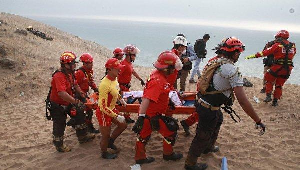 Спасательные работы в Перу, пассажирский автобус рухнул в пропасть