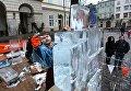 Традиционный конкурс ледовых скульптур во Львове