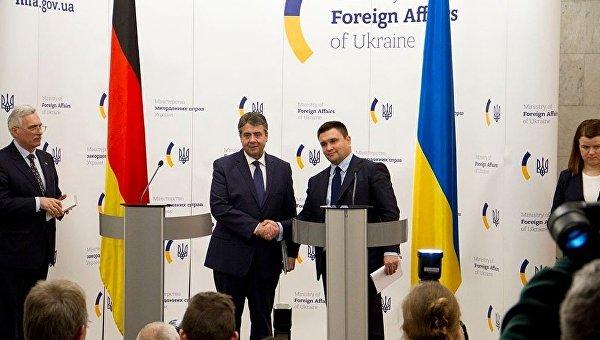 Пресс-конференция глав МИД Украина Павла Климкина и Германии Зигмара Габриэля