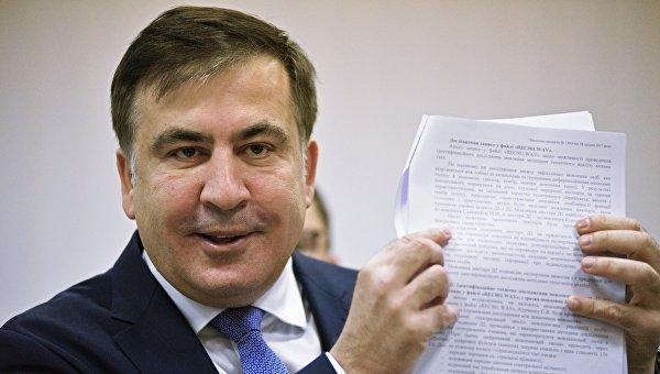 Михаил Саакашвили во время заседания Апелляционного суда Киева