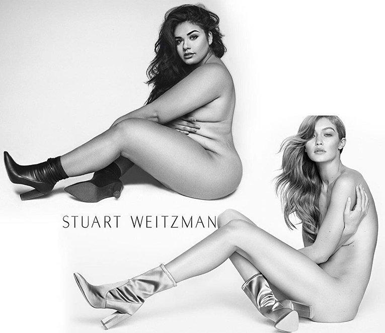 Модель plus-size Диана Сирокай спародировала образы Джиджи Хадид и Ким Кардашьян