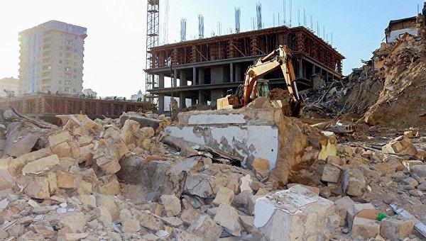 Снос зданий в Баку