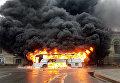 Автобус сгорел в Питере
