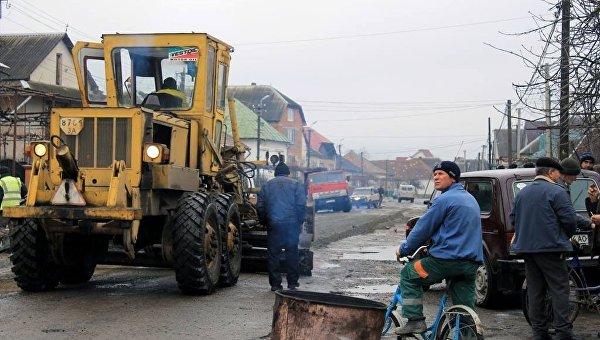 Ремонт дорог в селе Сасово Закарпатской области