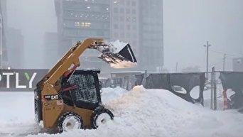 Обильные снегопады в Бостоне. Видео