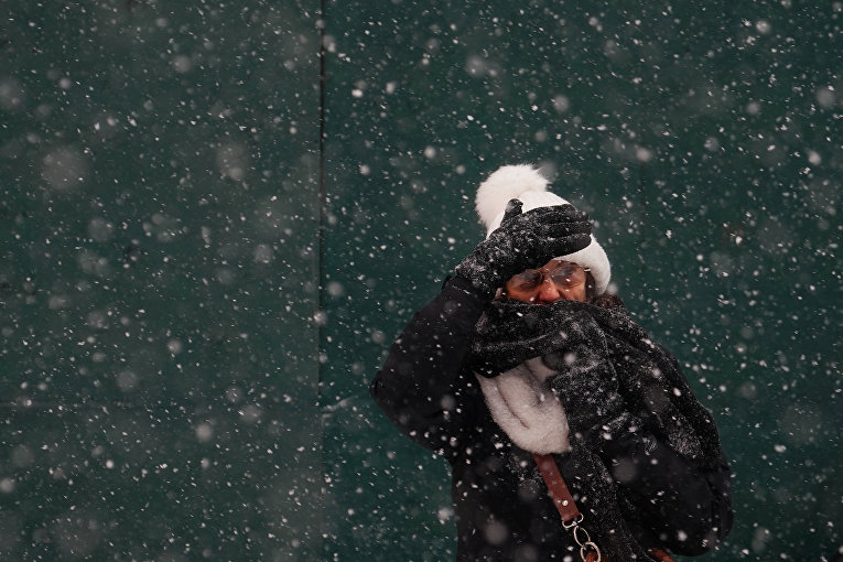 Аномальный снегопад в США