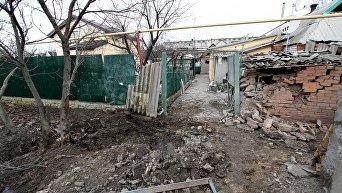 Последствия обстрела в Донецкой области