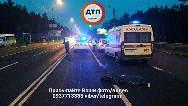 Под Киевом насмерть сбили женщину: шофёр исчез