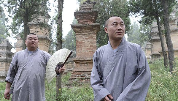 Шаолиньский буддийский монастырь в Китае